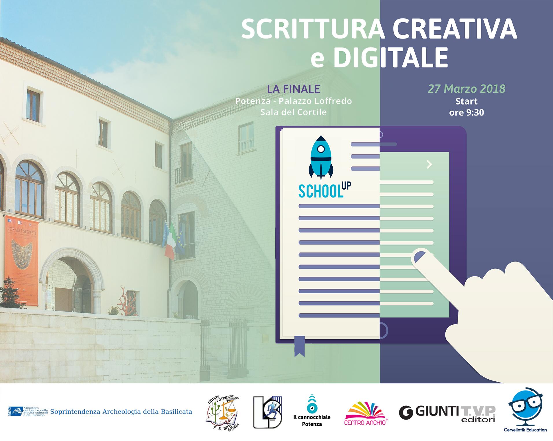 """""""Scrittura creativa e digitale""""- La finale a Potenza"""