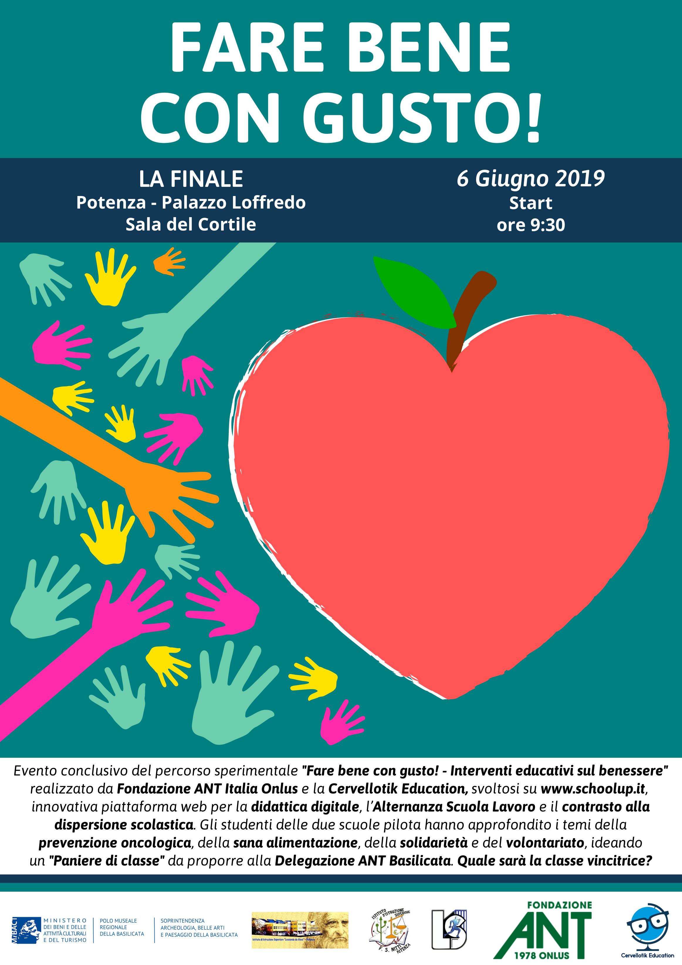 """Fondazione ANT Italia Onlus  e Cervellotik Education: """"Fare bene con gusto – Interventi educativi sul benessere"""""""
