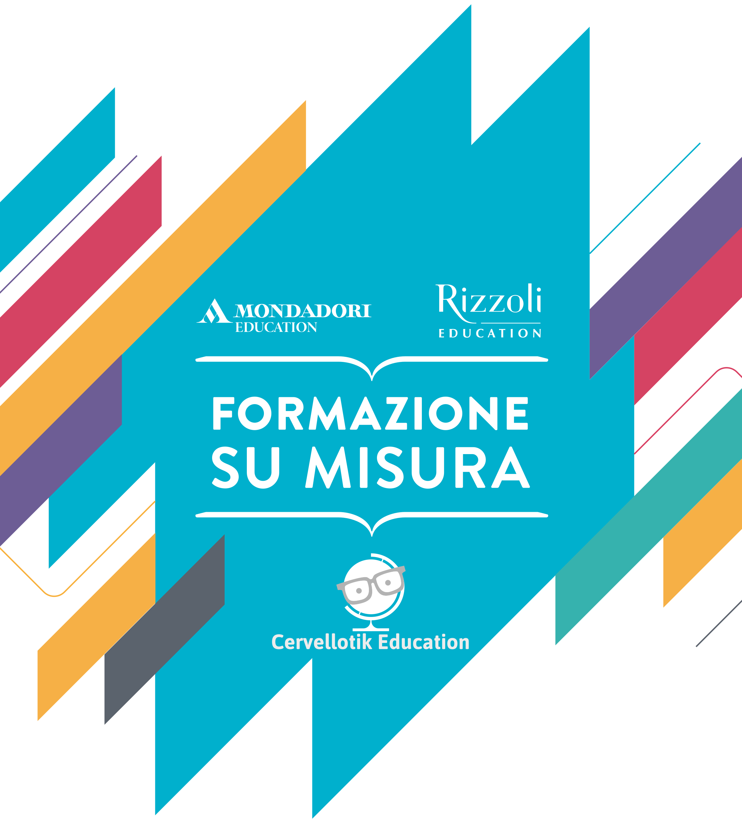 """Cervellotik Education:  partnership con  Mondadori Education e Rizzoli Education per il lancio di quattro nuovi corsi del catalogo """"Formazione su misura"""""""